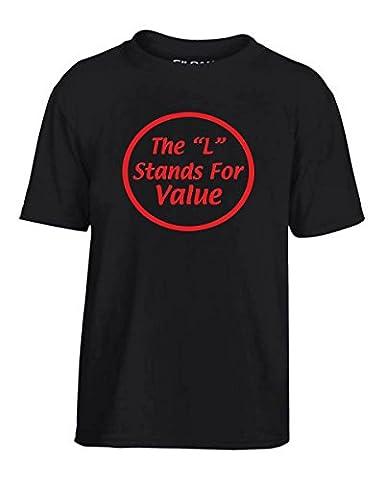 T-Shirtshock - T-shirt Enfants OLDENG00691 the l stands for value white, Taille 5-6ans