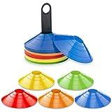 Leezo Sets 10 Stücke Sport Kegel Multi Sport Training Sicherheit Disc Kegel für Fußball Fußball Basketball & Jeder Ball Spiel Zu Markieren
