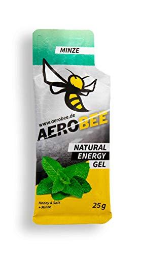 AEROBEE Energy Gel | Minze | Natürliches Energie Gel für Ausdauersport | Schnelle und dauerhafte Energie | Sehr bekömmlich | 1 Gels x 25g -