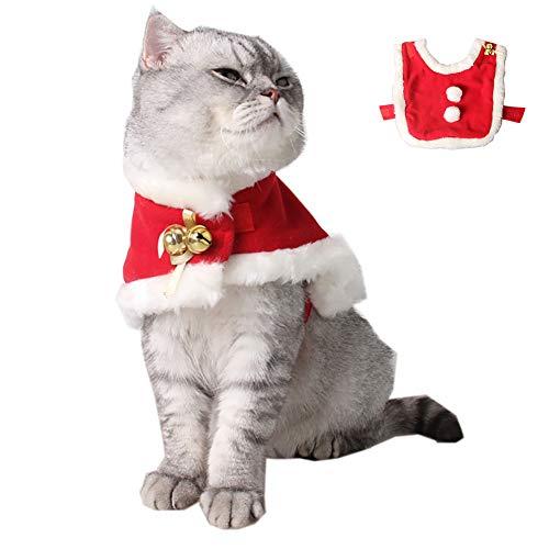 Katzen-Weihnachts Kostüm Cute Cute Cosplay Kleidung Weihnachten Mantel Weihnachten Windspiel Mantel Kreative Haustier-Mantel für Hunde und Katzen (n)