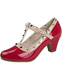 b1eabc50de2 Amazon.co.uk  Red - Mary Janes   Girls  Shoes  Shoes   Bags