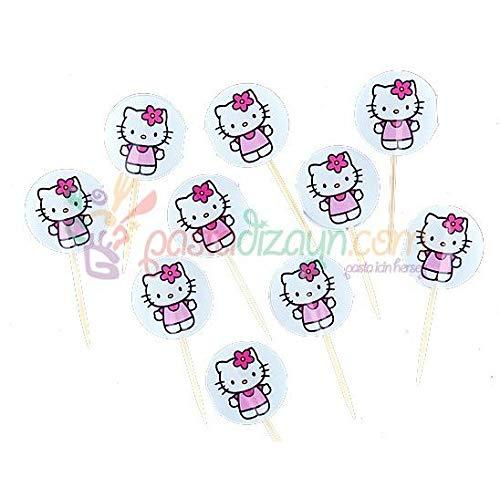 Hello Kitty Deko Zahnstocher,10 Stk (Hello Kitty Deko Party)