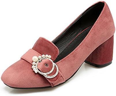 Mei&S La Mujer Tacones Cuadrados Bloque Toe Zapatos Boca Superficial