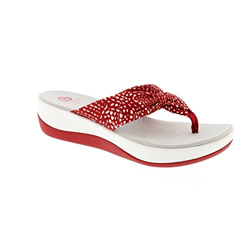 clarks-arla-glison-red-combi-textile-womens-sandals-45-uk