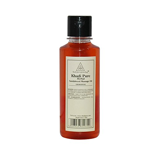 Khadi Pure Herbal Sandalwood Massage Oil - 210ml  available at amazon for Rs.130