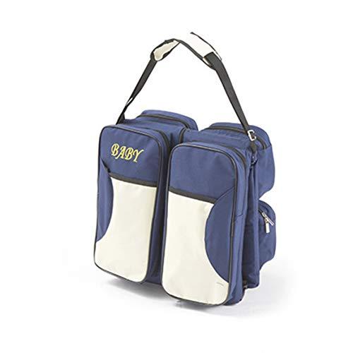 Multifunktionale Faltbare Mama Tasche Große Kapazität Universal Tragbare Reise Outdoor Klappbett Kinderbett Kinderbett Wickeltaschen-Dunkelblau