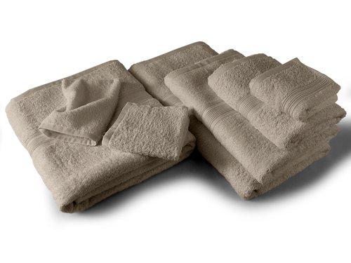 Packs zum Sparpreis - solide Frottiertücher - erhältlich in 18 modernen Farben und 8 verschiedenen Größen, 6er Pack Seiftücher (30 x 30 cm), sand