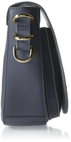 Tommy Hilfiger Th Twist Leather Medium Crossover, Sacs bandoulière Bleu (Tommy Navy)