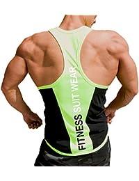 e05a4217f Harri me Men's Muscle Gym Fitness Y Back Stringer Tank Tops Bodybuilding  Workout Sleeveless Vest Shirts