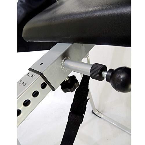DAG-Outdoor Supplies Fitnessgeräte Self-Fitness Functional Gravity Fitness Inversion Klapptisch Tisch Verstellbarer Gravity Fitness Inversion (Farbe : Schwarz, Größe : 131 * 77.5 * 14cm) -