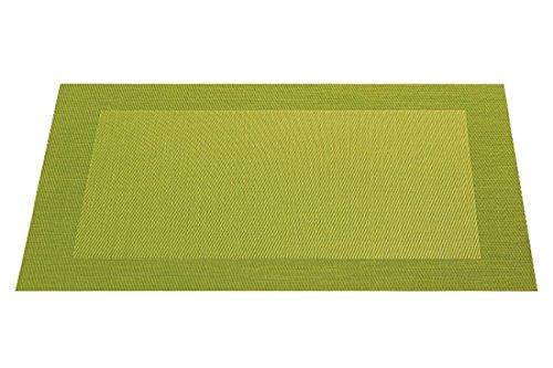 ASA Selection Tischset Kunststoff mit gewebt.Rand kiwi grün - Grüner Rand