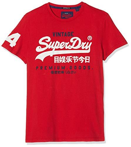 Superdry Herren Premium Goods Duo LITE Tee T-Shirt, Rot (Red 17I), Large -