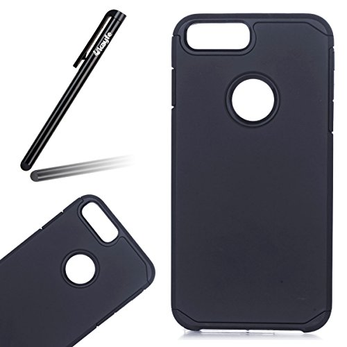 Ukayfe Custodia per iPhone 7/8 plus,UltraSlim TPU Gel Gomma Silicone Copertura Case per iPhone 7/8 plus,Moda Serie Pattern Back Cover Crystal Skin Custodia Stilosa custodia di design Protettiva Shell Nero