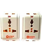 Orient Electric 3 pin Multi plug Travel Adapter 6 Amp Pack of 2