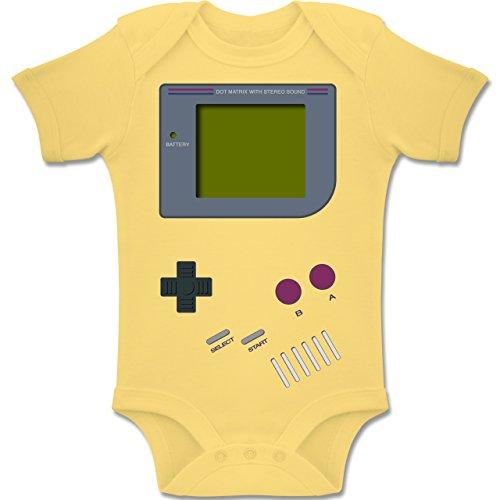 Shirtracer Strampler Motive - Gameboy - 3/6 Monate - Hellgelb - BZ10 - Baby Body Kurzarm für Jungen und Mädchen