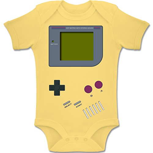 Shirtracer Strampler Motive - Gameboy - 3-6 Monate - Hellgelb - BZ10 - Baby Body Kurzarm Jungen Mädchen (Suit Body Herren)