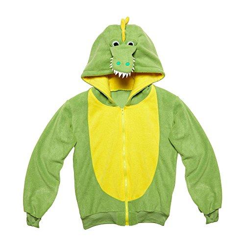 Imagen de widmann 07028–adultos disfraz cocodrilo, sudadera con capucha, verde, tamaño s/m