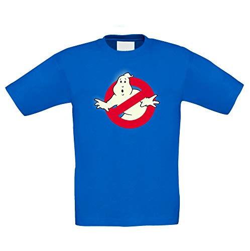 Shirtdepartment - Kinder T-Shirt - Glow - Ghost Busters Royalblau-Glow 134-146 (Ghostbuster Kostüm Kind)