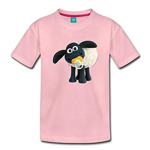 Timmy Shaun das Schaf Kinder Premium T-Shirt von Spreadshirt®, 110/116 (4 Jahre), Hellrosa