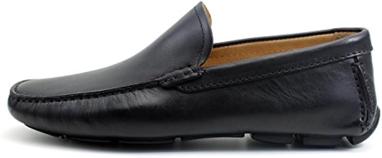 Giorgio Rea Mocassini Uomo Neri Car scarpe scarpe scarpe Eleganti Scarpe Uomo Artigianali Fatte a Mano in Italia | Qualità Stabile  102e00