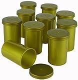 Goldene Filmdosen - stabiler Kunststoff - für Geocaching oder Kleinteile (25 Stück)