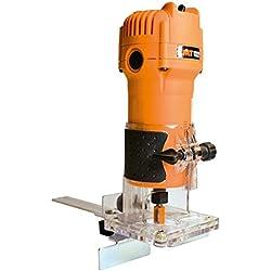 CMT CMT10Fraise électronique professionnelle pour bords 550W-230V avec pinces 6/8mm, orange/noir