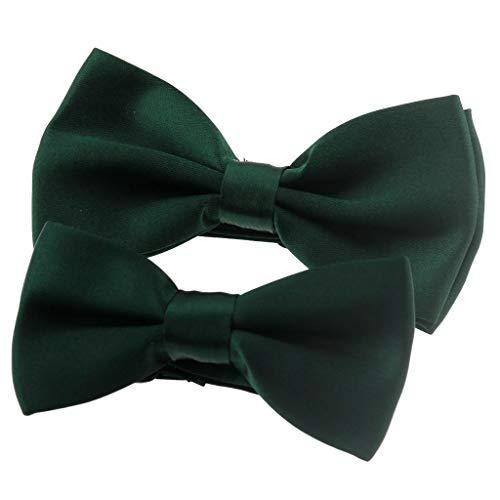 Ukerdo Familia Adecuado Pajarita Oscuro Verde Corbata