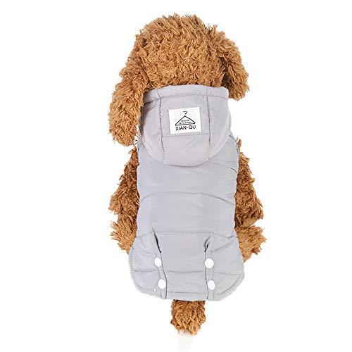 Berrose-Haustier Hund Kleider Welpen-Jacke Zweibeinige Kleidung mit Taille Design Wintermantel Warme Wasserdichte Baumwolle Weste Padded Winter Daunenjacke Mäntel Pet