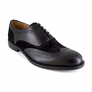 J.Bradford Derby Black Leather JB-AVETS - Colour - Black, Shoe Size - 43