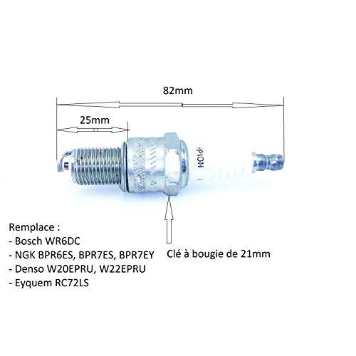 Candela di accensione per motore 4tempi equivalente a BPR6ES, BPR7ES, RN7Y