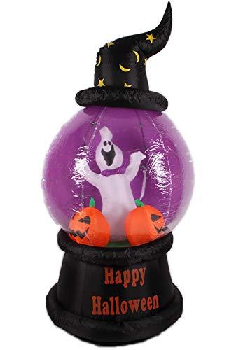 8 Fuß Aufblasbar Kürbis Vampir LED Sprengen Geist Kürbis Blinkt Photosphäre Halloween Party (Aufblasbares Kürbis Kopf Kostüm)