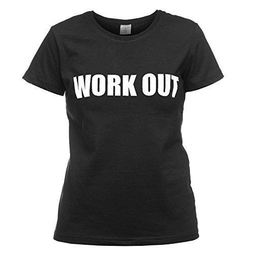 T-Shirt Work Out Training Sport Gym Fitness Rundhals Kurzarm Aufdruck Hipster Swagger Blogger Street Wear Print Statement Top Shirt Loomiloo TSST Schwarz