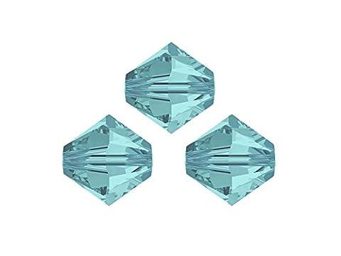 Swarovski Crystalperlen für glitzernden Schmuck aus eigener Werkstatt, 6mm, Großhandels-Packung 50 Stück, light turquoise