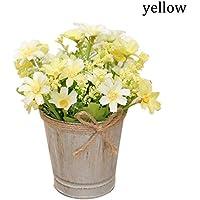 NEWSTARTS 1 unid Moderna decoración simple decoración de interior plantas en macetas de flores artificiales decoración de la sala de estar flores secas decoración hogar flor de simulación (amarillo)