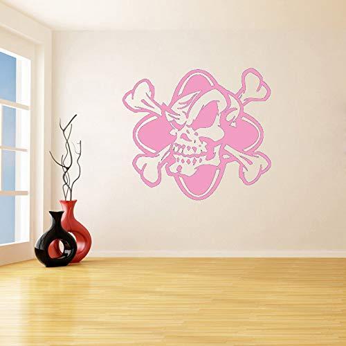 Preisvergleich Produktbild zqyjhkou Death Bones Schädel Skeleton Entfernbare Wandaufkleber Für Wohnzimmer Vinyl wasserdichte Abziehbilder Auto Windows Art Decor 8 84X96 cm
