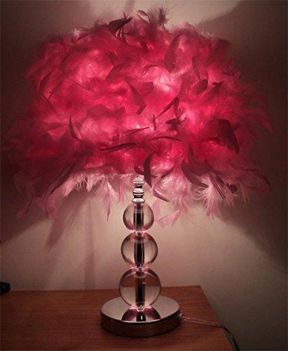 Feather camera da letto della lampada salotto den romantico moderno e minimalista lampada da comodino creativo