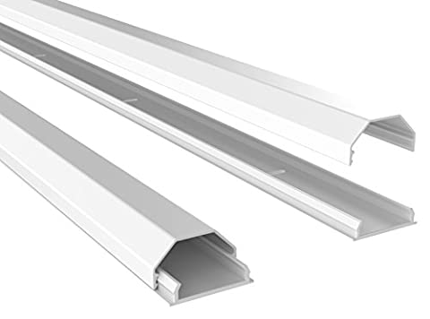 Ricoo Z0100 Goulotte cache-câbles en aluminium pour support plafond/mur/sol detéléviseur à écran plat câble L = 110cm