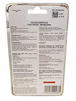 VETOCANIS Collier Anti-puces et Anti-tiques, au Dimpylate pour Chat, 8 MOIS de Protection, Coloris noir