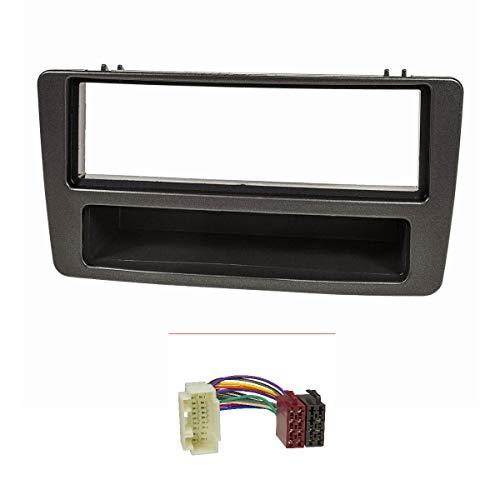 tomzz Audio ® 2417-003 Radioblende (Set) für Honda Civic (2001-2006), Fahrzeuge m. manueller Klimaanlage, anthrazit
