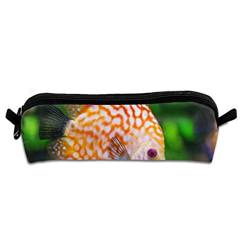 Pengyong Federmäppchen für Aquarien, Goldfisch-Design, mit Reißverschluss, kleine Kosmetiktasche, Make-up-Tasche für Kinder, Jugendliche und andere Schulutensilien (Coole Aquarien Und Aquarien)
