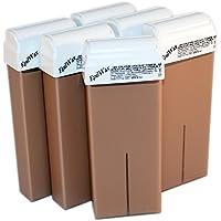 EPILWAX S.A.S - Lote De 7 Roll - Se le de Cera Desechables de Chocolate para depilatorio, con Dentado Grande Modelo para los animales piernas, axilas, y el corporal