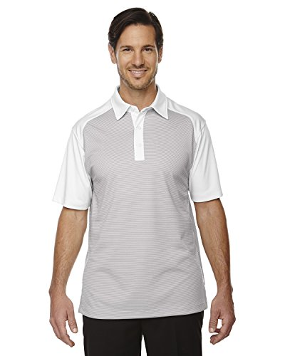 Ash City Symmetrie Herren UTK cool-logik Kaffee Performance Polo Shirt CRYSTL QRTZ 695