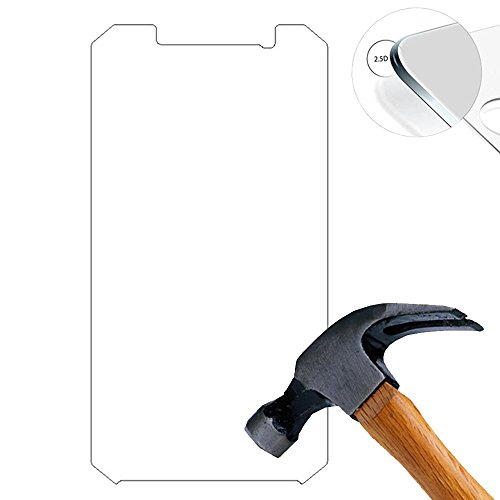 Lusee (Nur den flachen Teil abdecken) 2 X Pack Panzerglasfolie Tempered Glass Hartglas Schutzfolie für Doogee S60 Lite 5.2 Zoll Premium Screen Folie Protector Bildschirmschutz 0,3mm 9H 2.5D