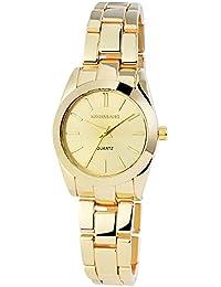 Excellanc  - Reloj de cuarzo para mujer, correa de diversos materiales color dorado