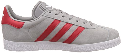 adidas Gazelle, Scarpe da Ginnastica Basse Unisex – Adulto Grigio (Medium Grey Heather Solid Grey/scarlet/footwear White)