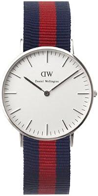 Daniel Wellington 0601DW - Reloj con correa de acero para mujer, color blanco / gris