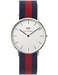 Daniel Wellington 0601DW - Reloj para mujer de Cuarzo con correa de Nailon azul marino y rojo