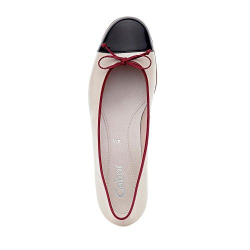 Gabor 65.102.82, Ballerine donna Bianco