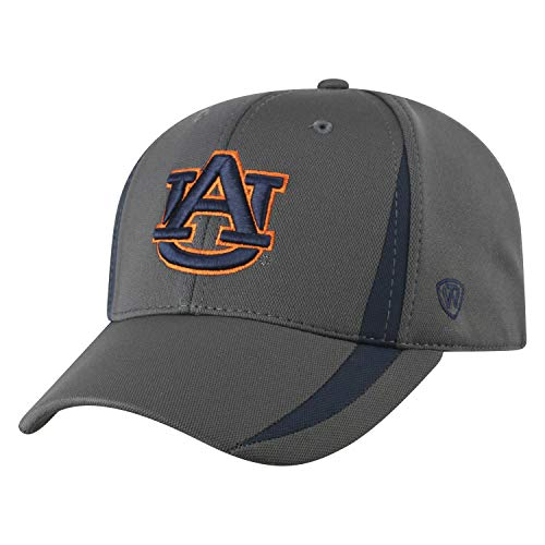 Top of the World NCAA Herren Performance Fitted Charcoal Triumph Icon Hat, Herren, NCAA Men's Performance Fitted Charcoal Triumph Icon Hat, Auburn Tigers Charcoal, Einstellbar