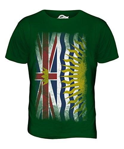 CandyMix British Columbia Verblichen Flagge Herren T Shirt Flaschengrün